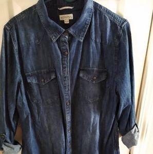 Merona denim chambray shirtdress